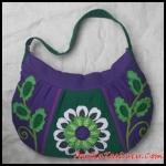 tas maika etnik grey on purple untuk wanita dan remaja asli buatan handmade